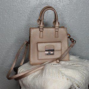 Gold Olivia Miller Square Mini Bag